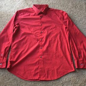 Alfani Red Mens Dress Shirt